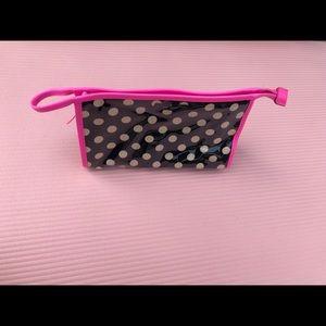 Kate spade Makeup bag in black and pink.